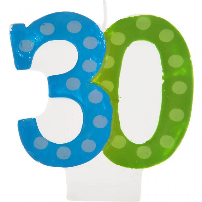 Vela cumpleaños número 30 Creative Converting