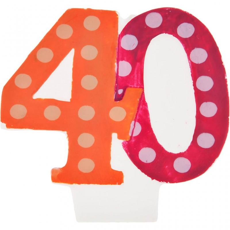 Vela cumpleaños número 40 Creative Converting