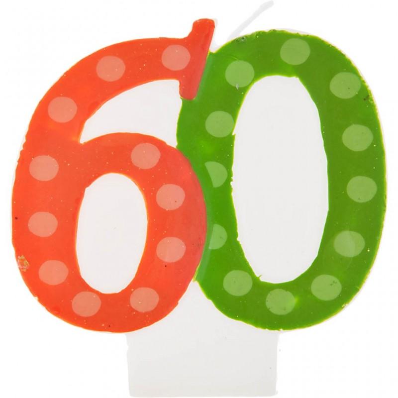 Vela cumpleaños número 60 Creative Converting