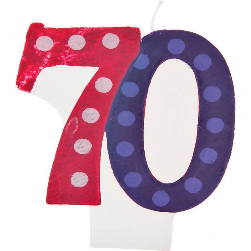 Vela cumpleaños número 70 Creative Converting