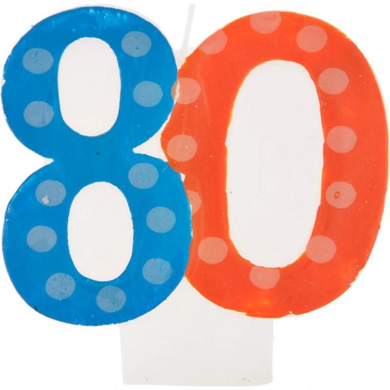 Vela cumpleaños número 80 Creative Converting