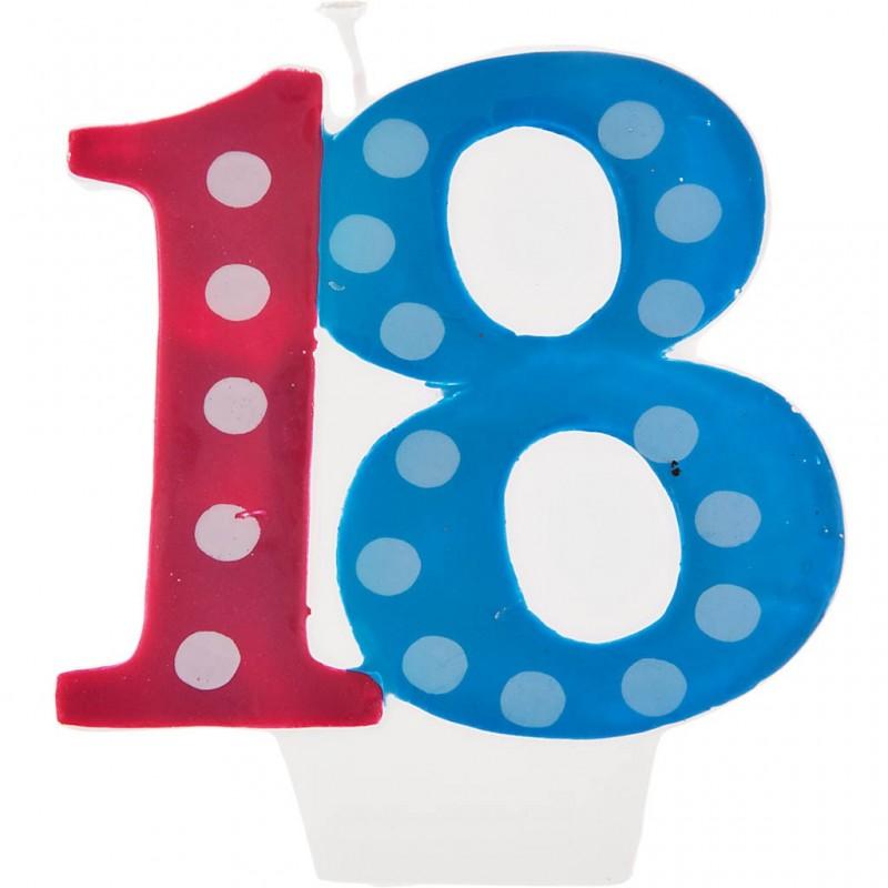 Vela cumpleaños número 18 Creative Converting