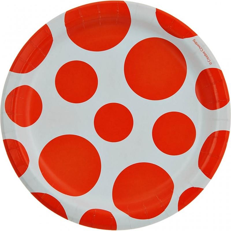 Juego de 8 platos redondos Dots Creative Converting