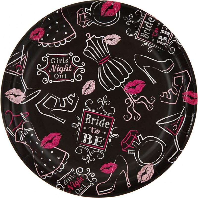 Juego de 8 platos Bridal Bash 17.4 cm Creative Converting