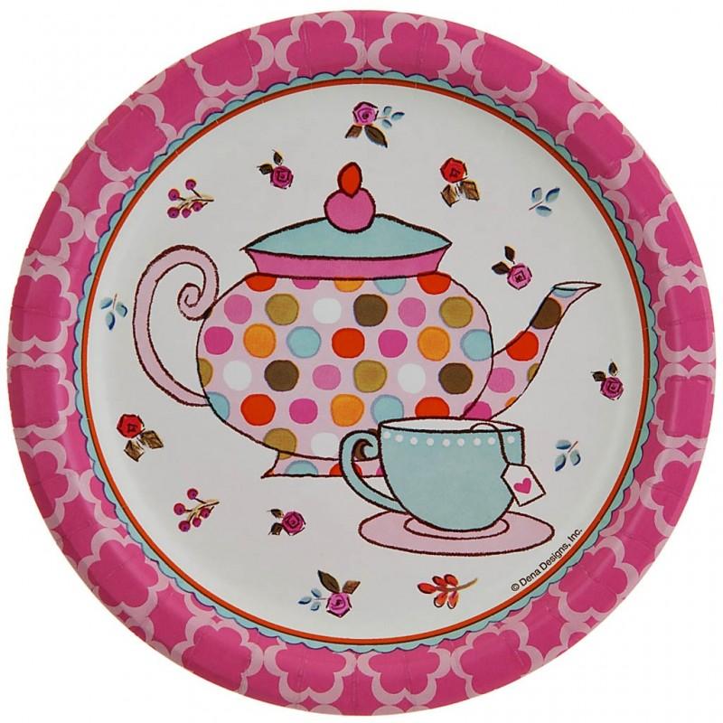 Juego de 8 platos Tea Time 17.4 cm Creative Converting