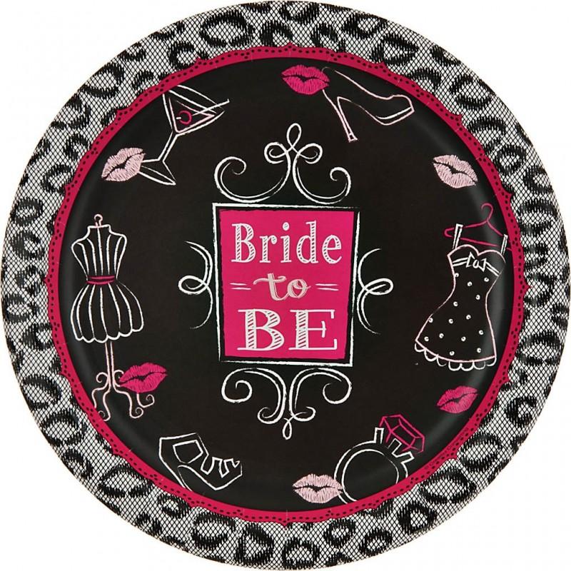 Juego de 8 platos Bridal Bash 22.2 cm Creative Converting