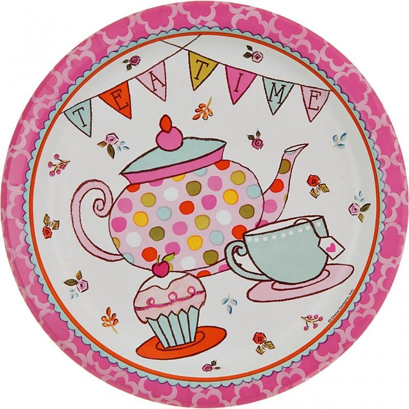 Juego de 8 platos Tea Time 22.2 cm Creative Converting