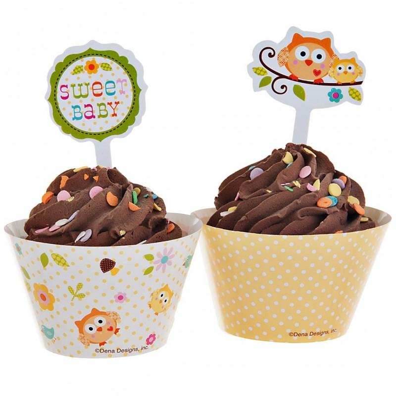 Cenefa con pincho para cupcake Happy Tree 24 piezas Creative Converting