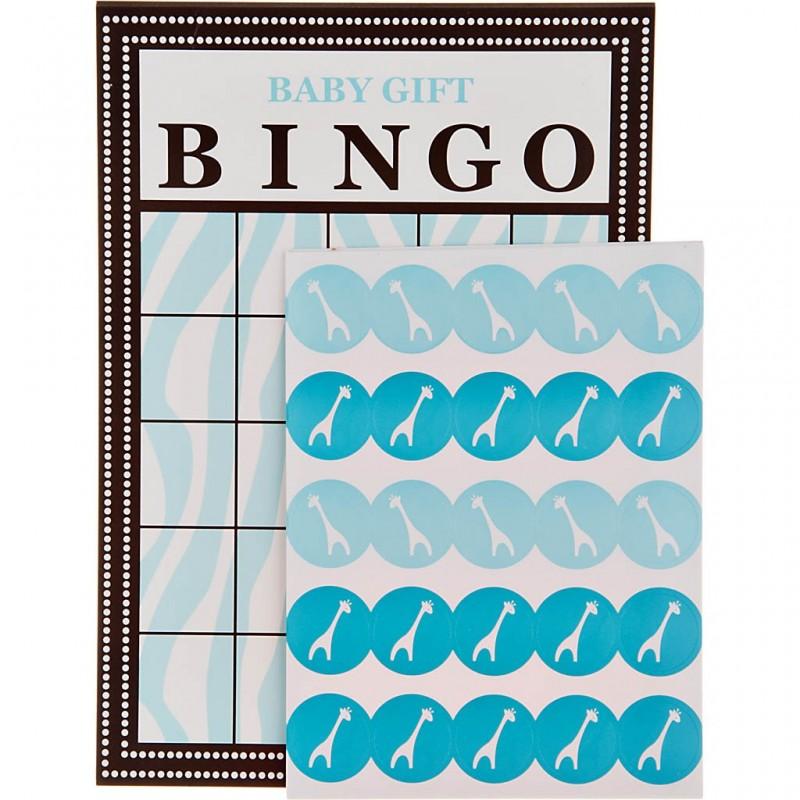 Juego de 10 bingo con stickers Celeste Wild Safari Creative Converting