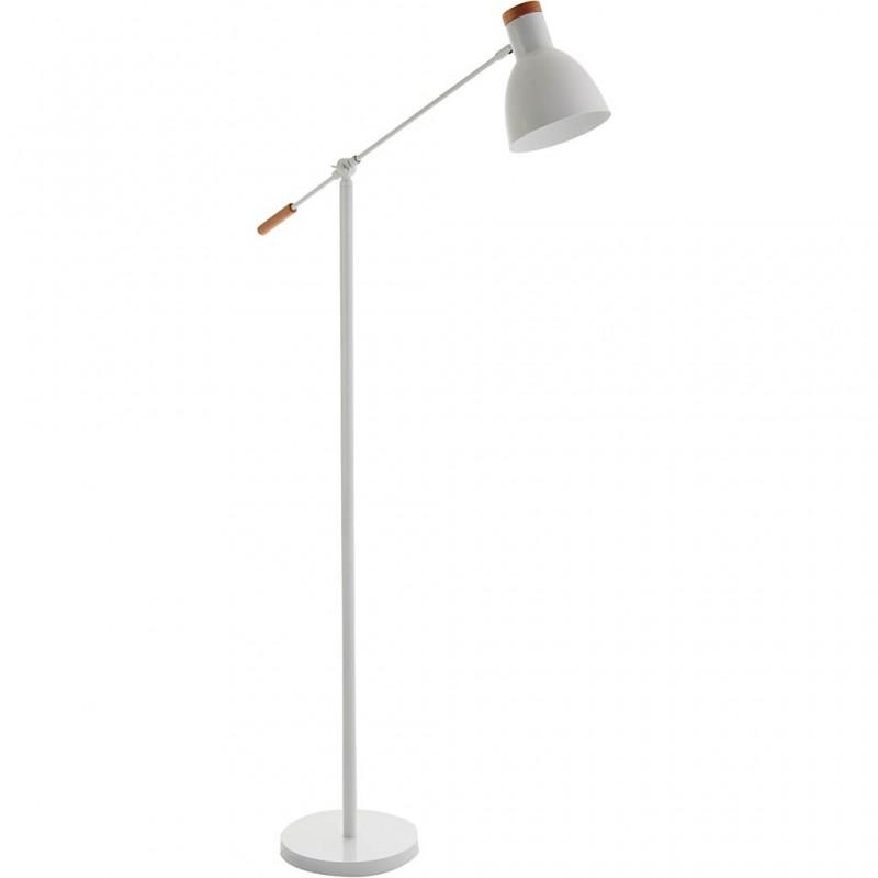Lámpara de piso regulable con pantalla cónica
