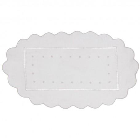Tapete Borde Perforado Puntos 100% algodón Haus