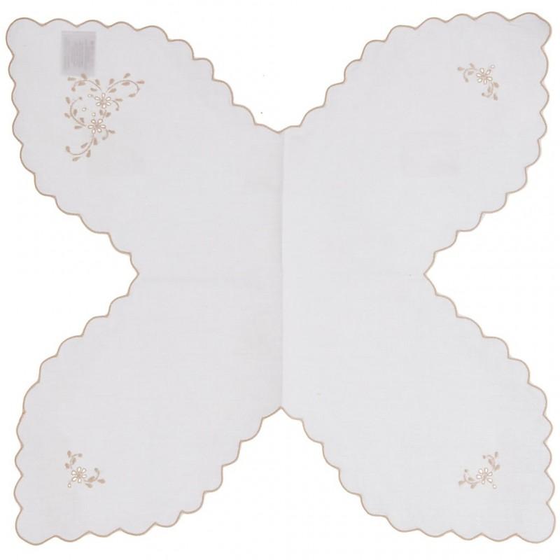 Panera 45x45 cm Borde Flores 100% algodón Haus