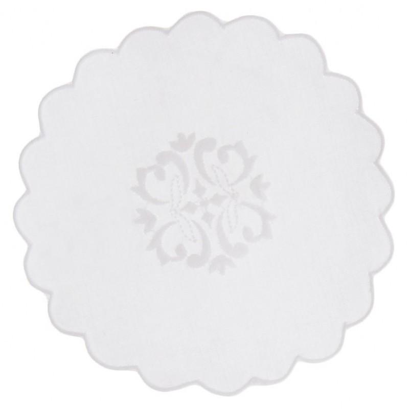 Tapete redondo 15 cm Borde Arabesco 100% algodón Haus