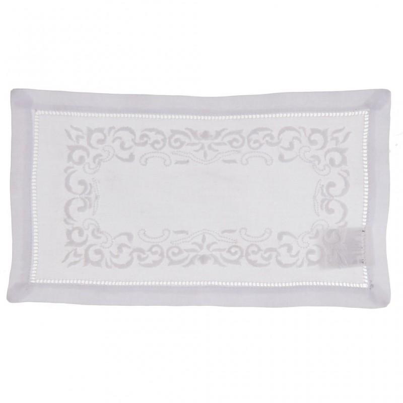 Tapete Borde Perforado Arabesco algodón Haus