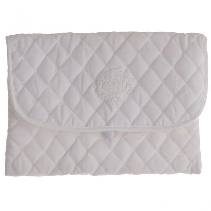 Funda para interiores 22x28 cm Flor Blanco 100% algodón Haus