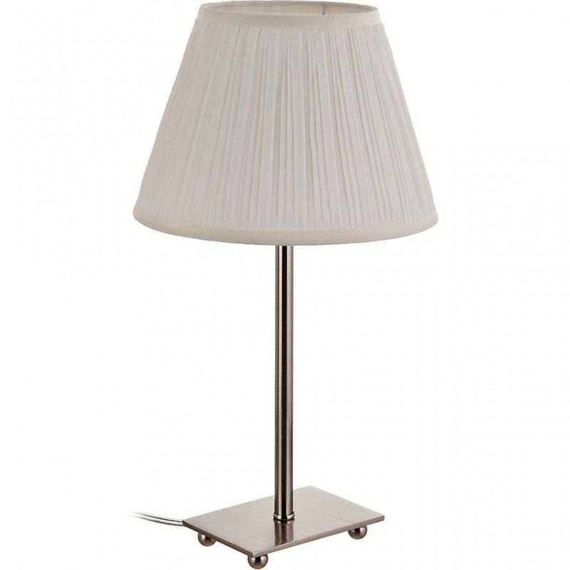 Lámpara de mesa con pantalla redonda