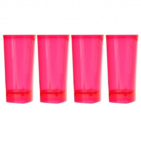 Juego de 4 vasos plástico