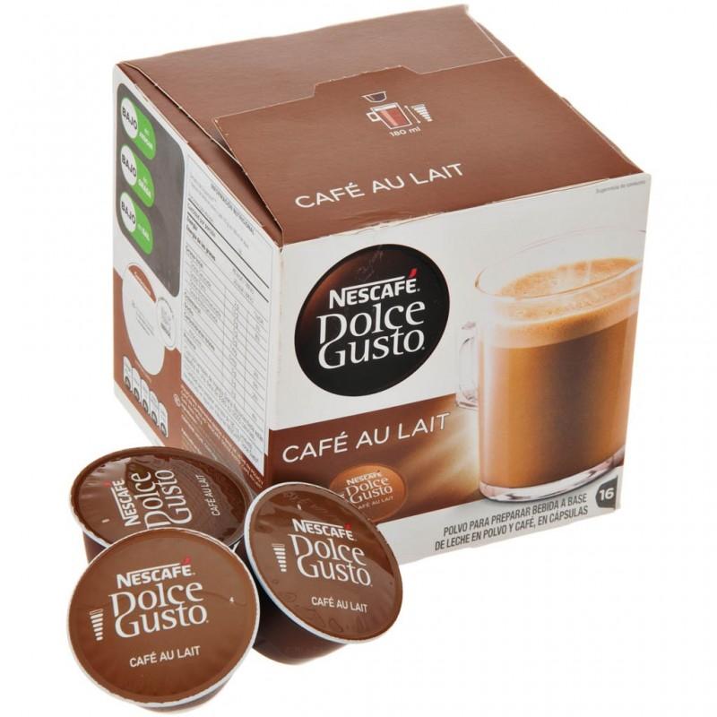 Caja de 16 cápsulas para Café Au Lait Dolce Gusto
