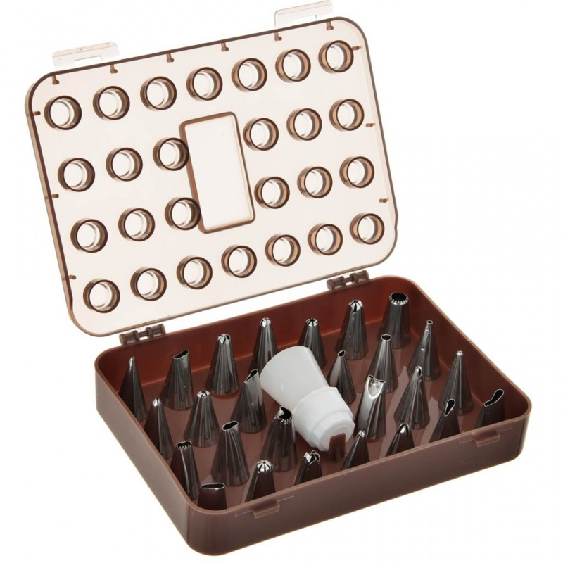 Boquillas para repostería con estuche 26 piezas acero inoxidable / polipropileno Novo