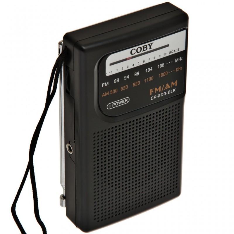 Radio portátil AM / FM antena telescópica Coby