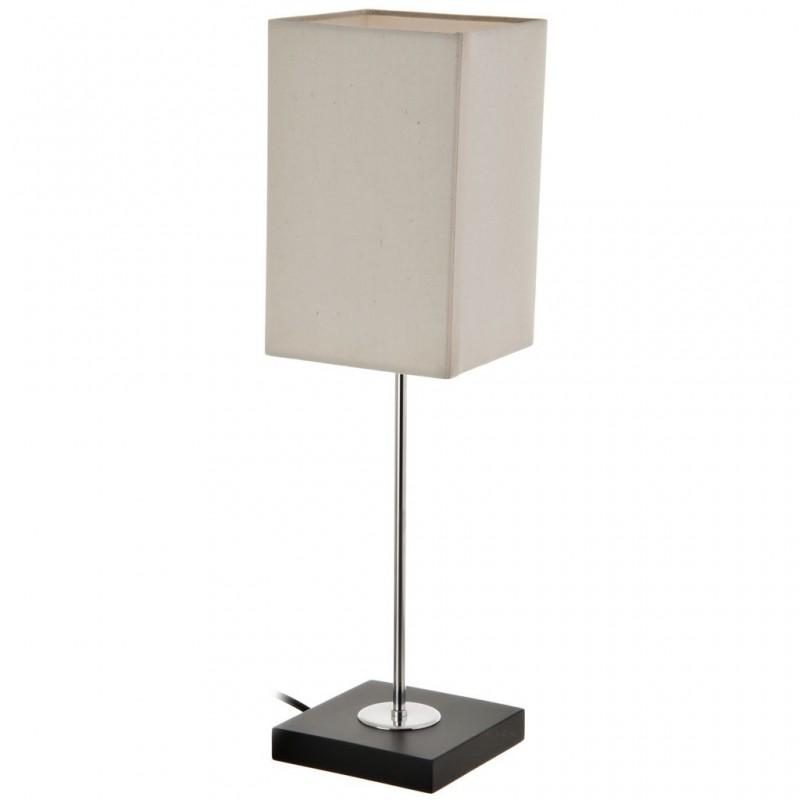 Lámpara con base cuadrada / pantalla rectangular beige