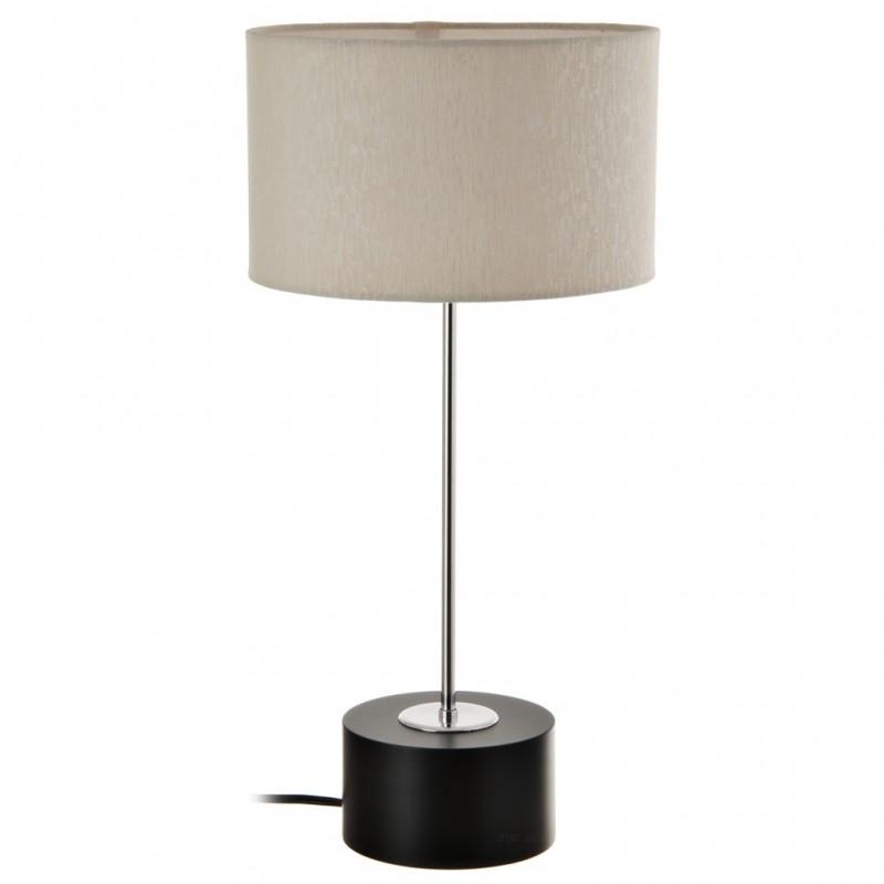 Lámpara con base redonda / pantalla cilíndrica habano