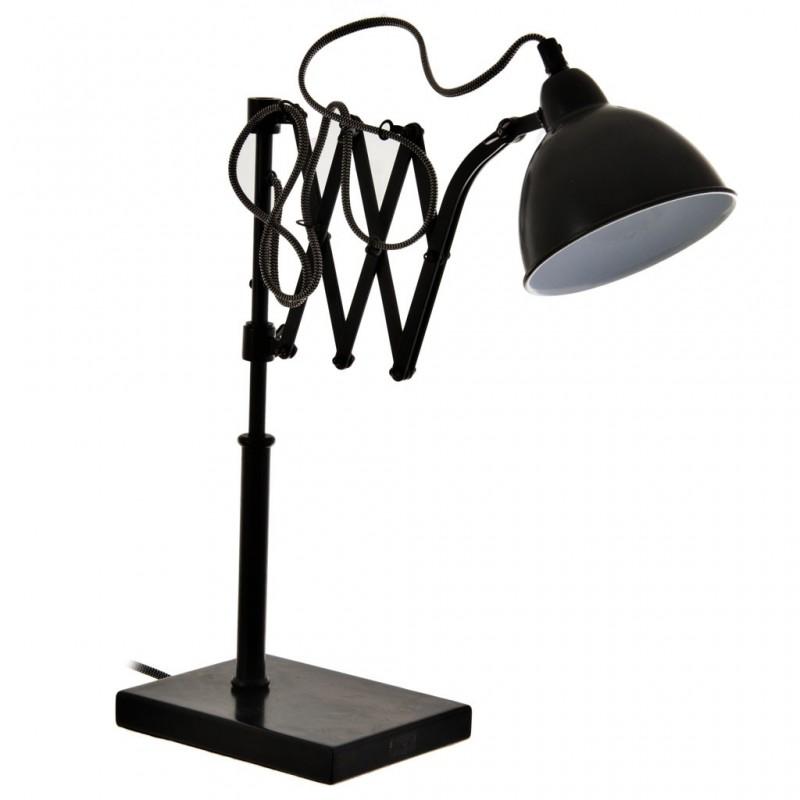Lámpara de mesa con pantalla regulable Globo Negro Antique Metal