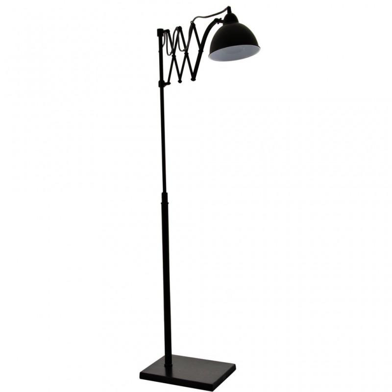Lámpara de piso con pantalla regulable Globo Negro Antique Metal