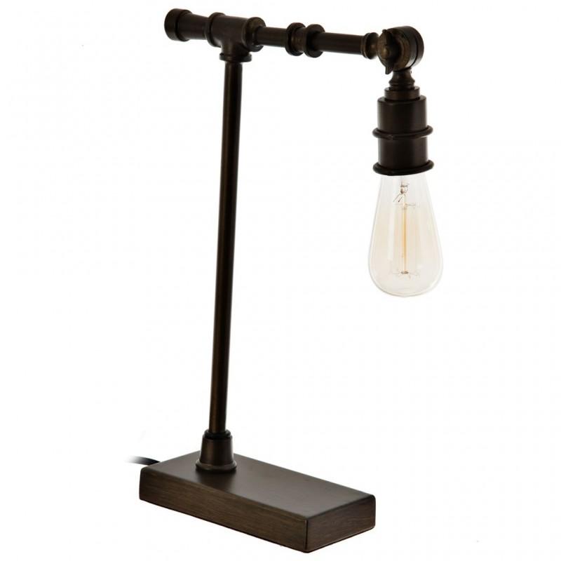 Lámpara para escritorio con pantalla regulable Tubular Bronce Metal