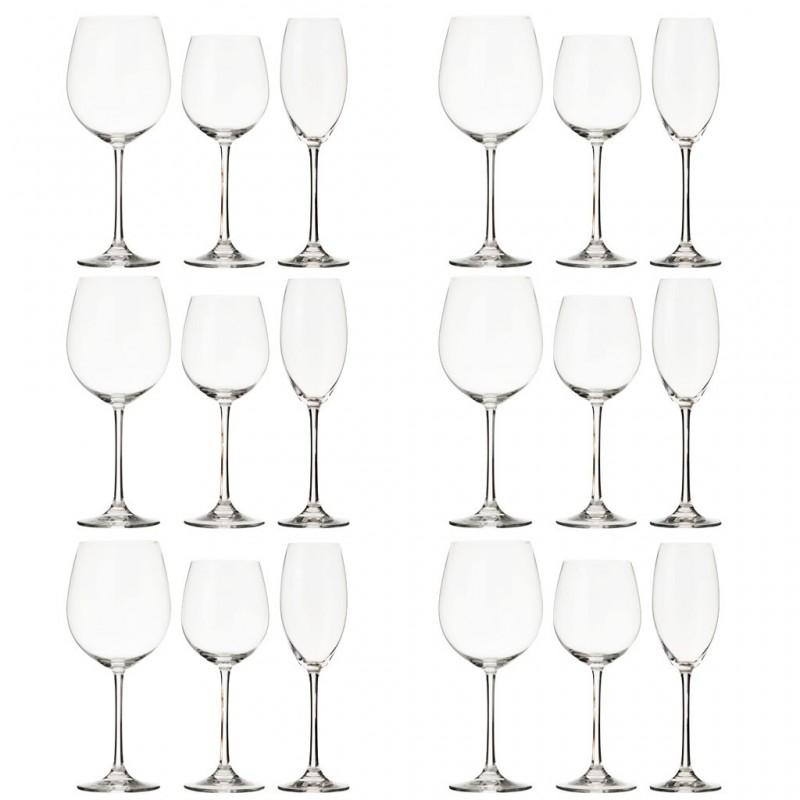 Juego de 18 piezas copas para vino / champagne Vivendi Nachtman