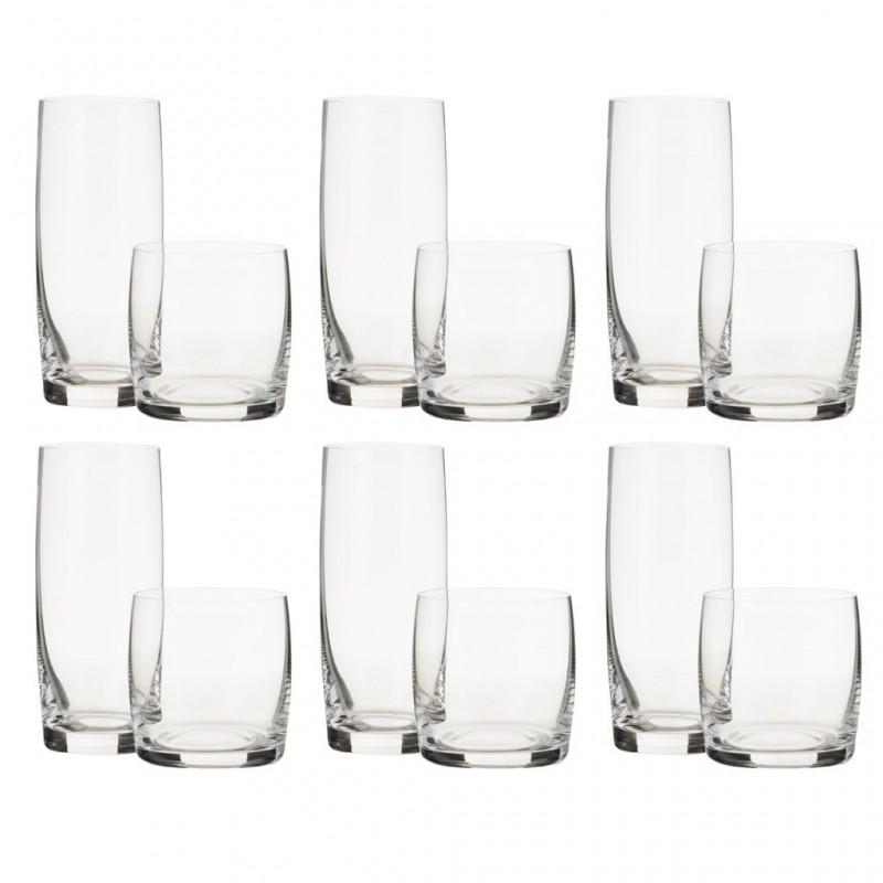 Juego de 12 piezas vasos whisky / altos Vivendi Nachtman