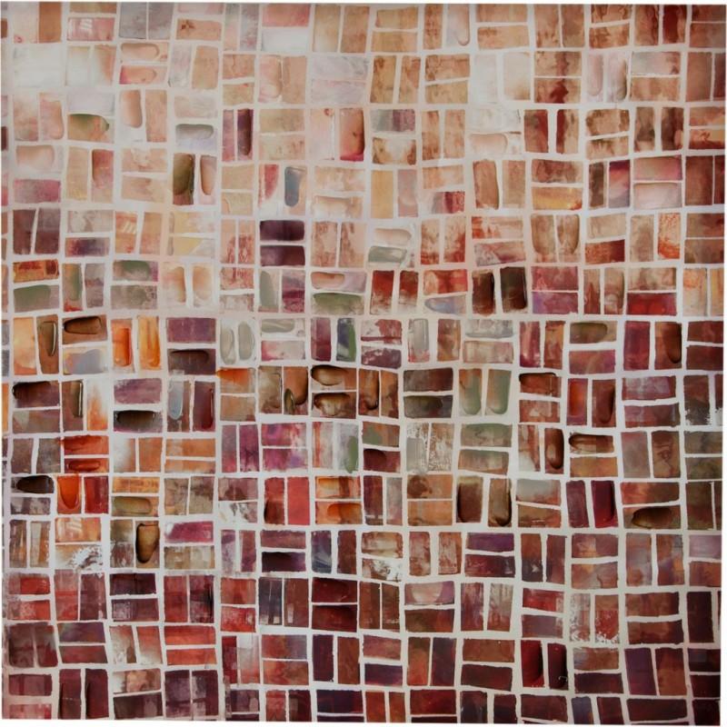 Cuadro Abstracto Multicolor 100 x 100 cm