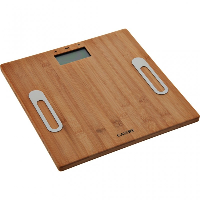 Balanza para baño con plataforma de bambú Camry