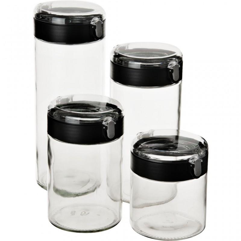 Juego de 4 reposteros vidrio / plástico Haus