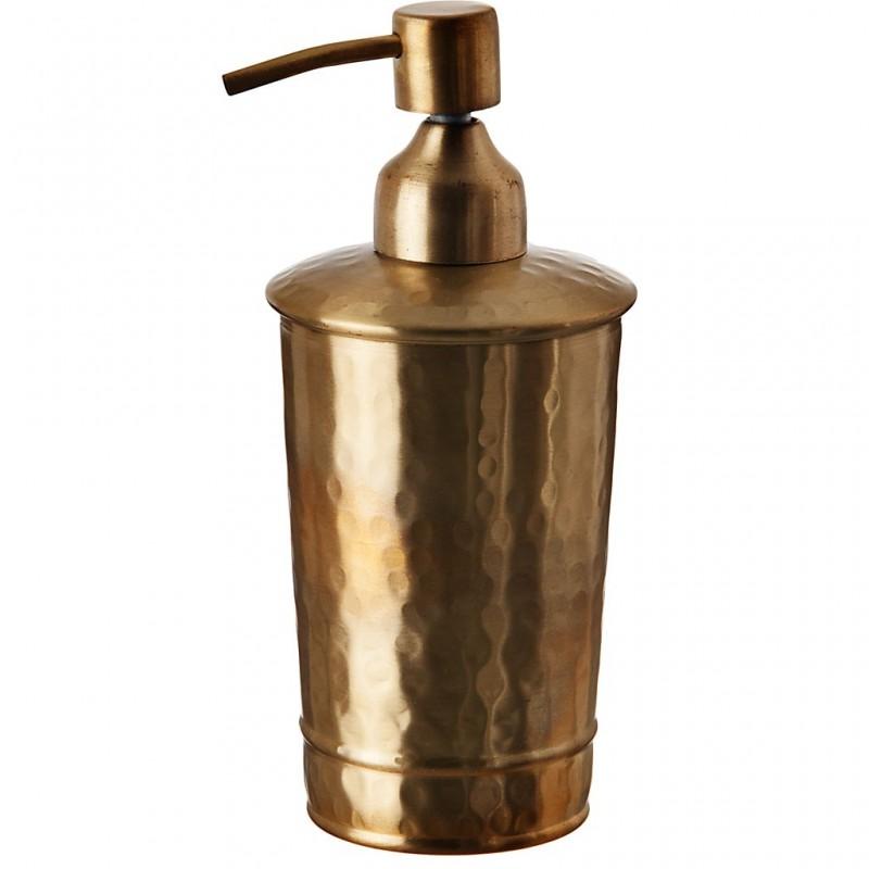 Dispensador de jabón bronce Dorado Martillado Haus