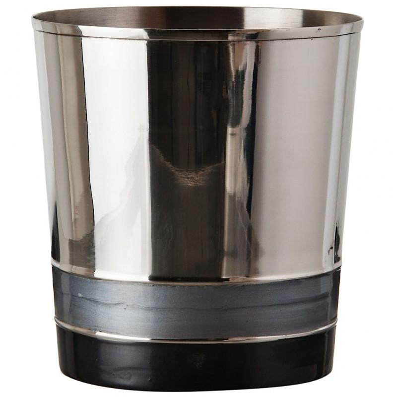 Basurero de acero inoxidable Silver / Gris / Negro Haus