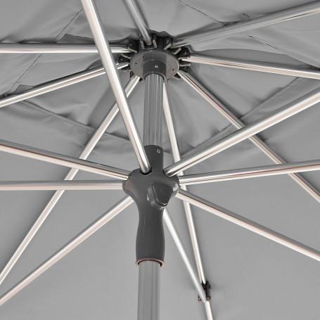 Parasol cuadrado con base aluminio y poliéster