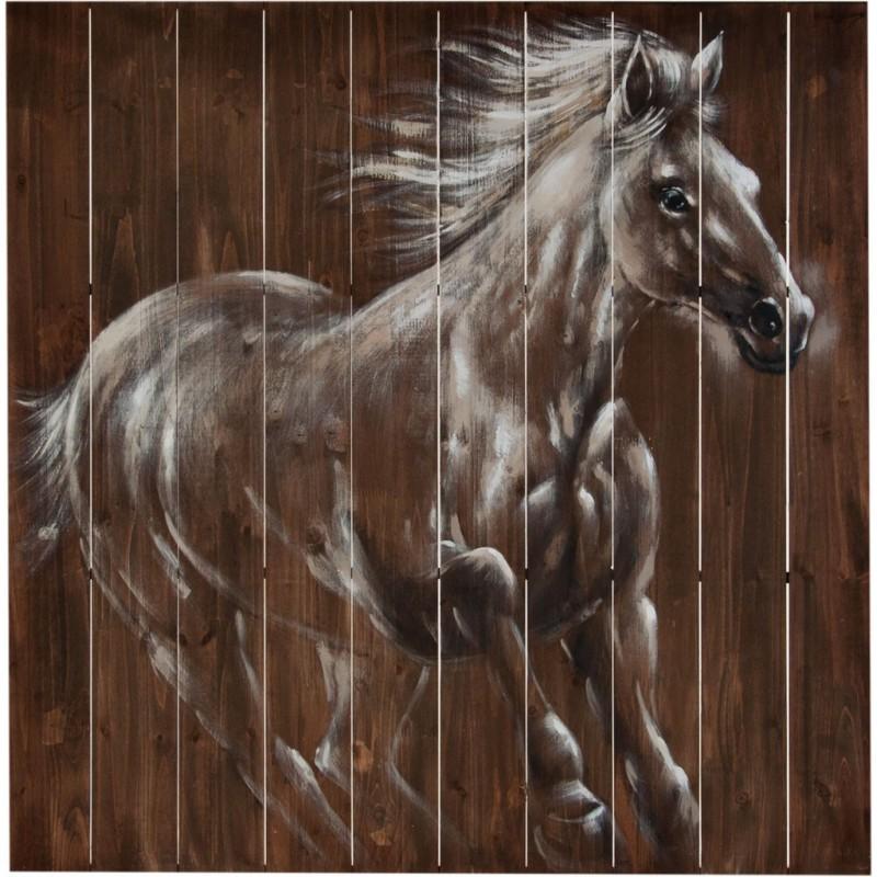 Cuadro Caballo Blanco 100 x 100 cm
