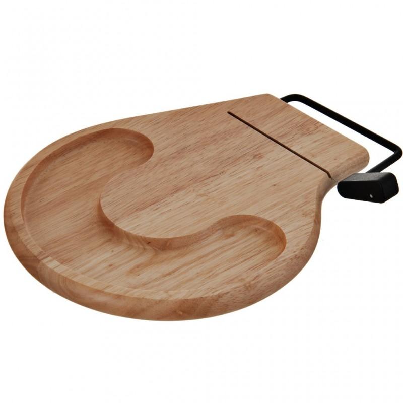 Tabla para queso con cortador madera / acero inoxidable Prodyne