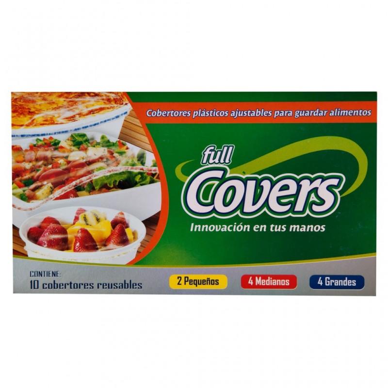 Juego de 10 cobertores plásticos ajustables para guardar alimentos