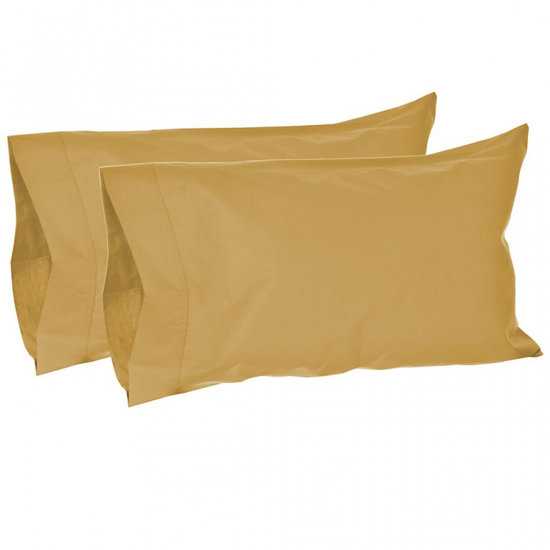 Juego de 2 fundas para almohadas 144 hilos 50% algodón - 50% poliéster Haus