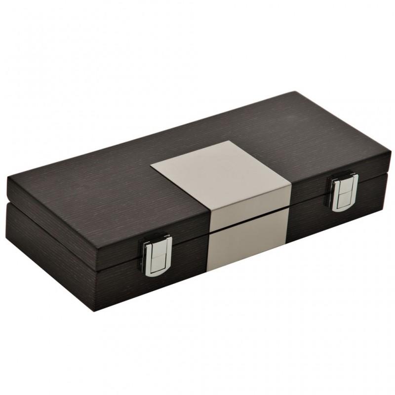 Caja de madera para naipes 5 servicios