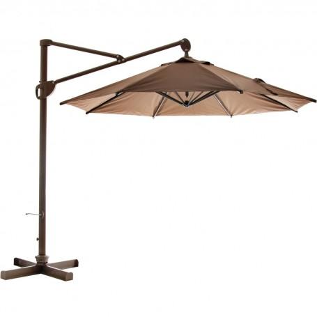 Parasol redondo con base y brazo ajustable 3 metros
