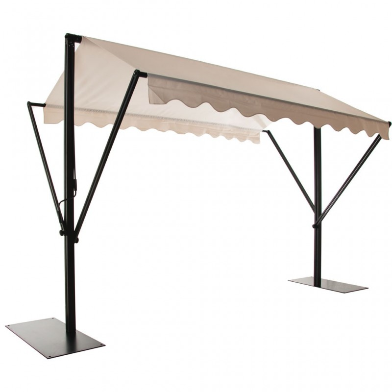 Toldo rectangular con base 4 x 3 metros