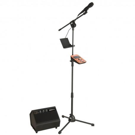 Karaoke con micrófono, pedestal y parlante entrada para dispositivos Singtrix