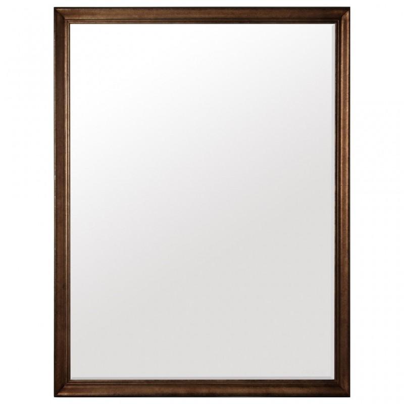Espejo con marco de madera Bronce