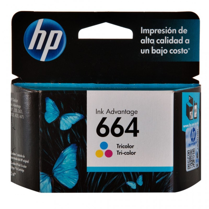 Tinta 664 Tricolor Ink Advantage HP