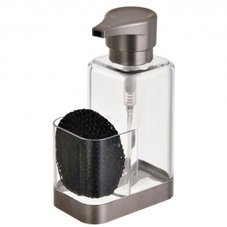 Dispensador de jabón con esponja para cocina Clear Interdesign