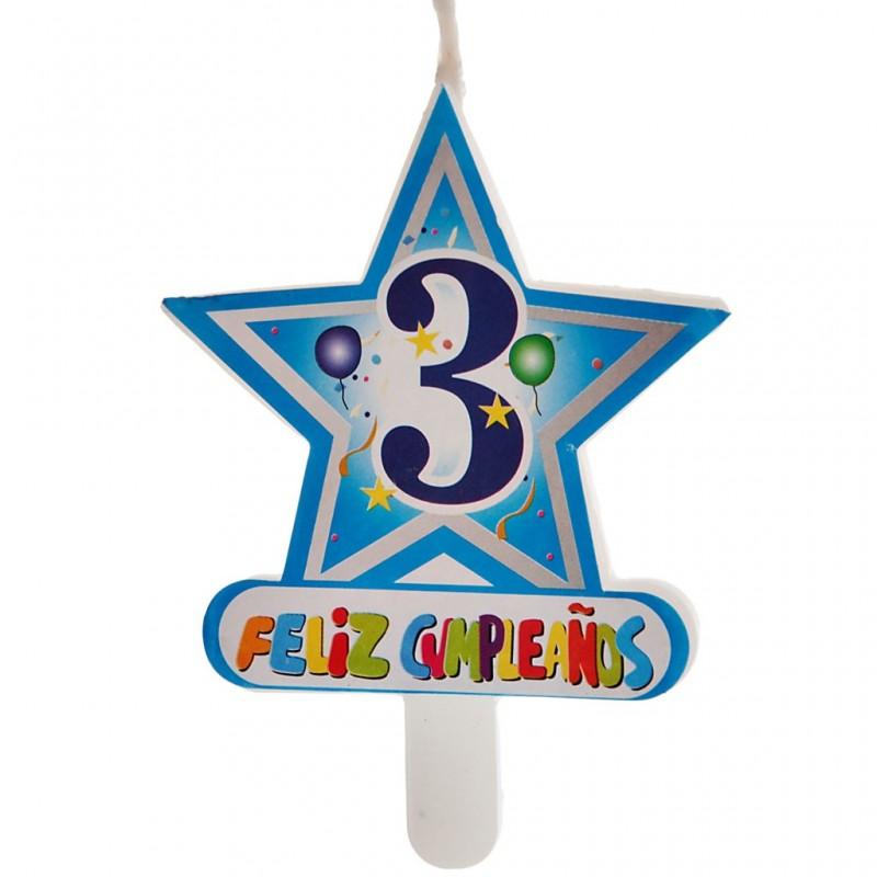 Vela Número 3 Estrella