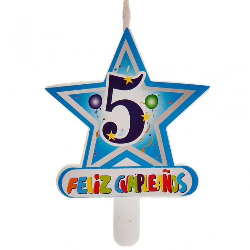 Vela Número 5 Estrella